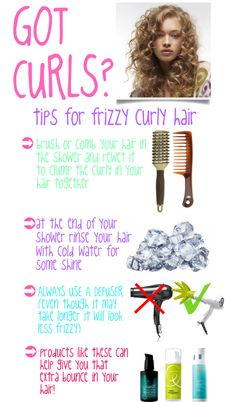 """Curly hair tips"" by bubbles009baby ❤ liked on Polyvore"