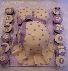 Mais alguns modelos de bolo para chá de bebê...                                  créditos : arte gulosa
