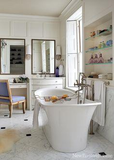 Bathroom decor ideas on pinterest tubs bathtubs and log for New england bathroom ideas
