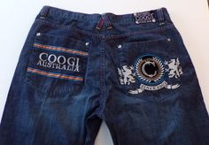 Mens Coogie Jeans Embroidered Back Pockets  Size 42 X 35  #COOGI #BaggyLoose