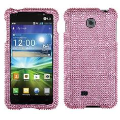 Asmyna LGP870HPCDMS004NP Luxurious Dazzling Diamante Case for LG Escape P870 - 1 Pack - Retail Packaging - Pink by Asmyna, http://www.amazon.com/dp/B009E18RT2/ref=cm_sw_r_pi_dp_vl15rb1AF2W5Y