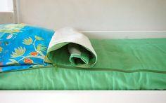 Vihreä Zipit-päiväpeitto 95€