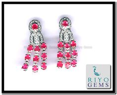 Ruby Earrings, White Gold, Gems, My Love, My Style, Accessories, Fashion, Ruby Stud Earrings, Moda