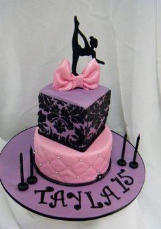 silhouette dancer cake
