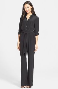 Diane+von+Furstenberg+'Lori'+Belted+Silk+Jumpsuit+available+at+#Nordstrom