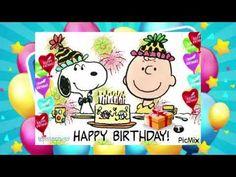 Peanuts Happy Birthday, Happy Birthday Charlie Brown, Happy Birthday Chicken, Snoopy Birthday, Happy Heavenly Birthday, Birthday Songs, Peanuts Snoopy, Christmas Images, Birthdays