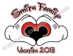Disney Family Vacation IronOn Transfer by PopCreativeDesigns, $5.00 ((Loooove this!! ::Donahue Fam{ily}:: Vacation *2014*))