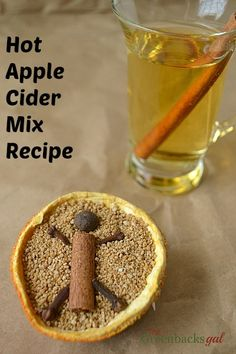 Hot Apple Cider Mix Recipe. Look how cute! This recipe would be perfect for homemade gift giving!