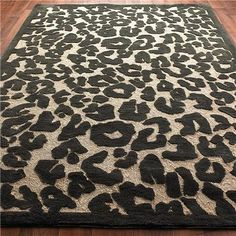 Indoor Outdoor Carved Cheetah Print Rug 2 Colors