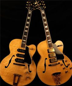 Gibson ES-5, 1951, sn A7321, 3 P-90 pickups Gibson ES-5 Switchmaster, 1959, sn A 27764, 3 PAF pickups Introduced in 1949, the triple pickup ES-5 with it's laminated curly maple body was the fanciest (and most beautiful) Gibson electric guitar. It pre-dates Fender's triple pickup Stratocaster. In 1955, the guitar was re-named the Switchmaster, and in 1957, the P-90s were replaced with Gibson's new PAF, the most desirable, sought after, and copied vintage pickups. T-Bone Walker loved his ES-5.
