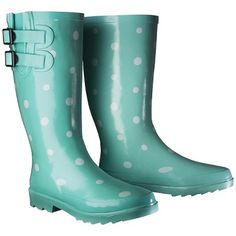 Women's Novel Dot Rain Boot - Mint (Green) 8
