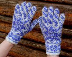 Hand knitted Norwegian gloves