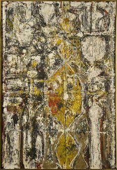 Richard Pousette-Dart : oil on canvas, 'Cascella' 1952