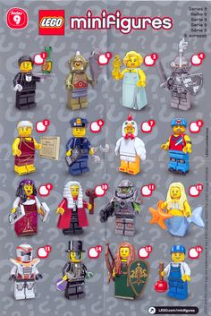 Lego mini figures. Any kind. He loves them