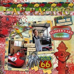 This looks like a great place to visit. Cool cars in the background and love the picture of the handsome young man on the top. Layout by Skinospot #digitalscrapbooking #scrapbooking #memorymaking #layout #inspiration