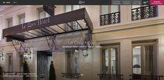 Découvrez le nouveau site internet de l'hôtel Le Grey Hotel, une nouvelle création de l'équipe Diadao ! #hotellerie #paris #luxe
