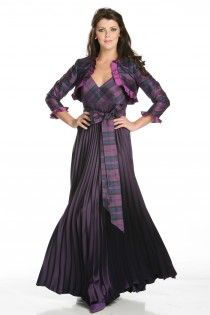 Tartan gown for mom