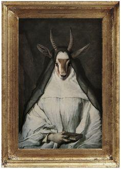 Royal Sister Gazelle Framed Portrait on Behance Sisters Art, Modern Portraits, Modern Classic, Pet Birds, Framed Art, Portrait Frames, Unique, Pets, Creative