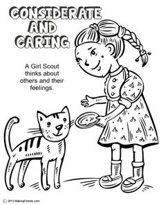 makingfriends girl scout daisy spring green petal considerate and caring coloring page daisy girl scout spring green petal considerate and caring coloring - Girl Scout Camping Coloring Pages