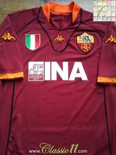 2001 02 Roma Home Football Shirt (M). Soccer JerseysFootball SoccerVintage  ... 4cfde40b5