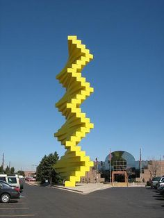 Articulated Wall by Herbert Bayer was first constructed near the entrance of the Denver Design Center in 1986 and has since become a Denver landmark. Denver Colorado, State Of Colorado, Colorado Homes, Wyoming, Herbert Bayer, Roadside Attractions, Thing 1, Outdoor Art, Land Art