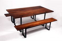 Indoor picnic table.