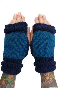 Handknit Wool Fingerless Mitts Women Men Handknit by LizSox, $30.00 @http://www.etsy.com/shop/LizSox