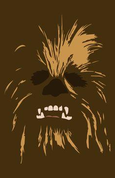 Chewbacca minimalist illustration #starwars #illustration #minimalist #art #vector #graphic