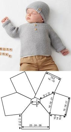 Diy Crafts - babyclothes,crochet-Gray Sweater with Decorative Buttons newborn babyclothes crochet knitting freepattern crochetpattern Crochet Baby Cardigan, Booties Crochet, Baby Booties, Newborn Crochet Patterns, Sweater Knitting Patterns, Knitting For Kids, Baby Knitting, Baby Outfits Newborn, Tricot Facile
