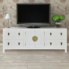 Details about wood tv cabinet tv stand 8 drawers sideboard tv console entertainment center White Sideboard Buffet, White Buffet, Wood Sideboard, Sideboard Design, Commode Design, Bedroom Tv Cabinet, Tv In Bedroom, Side Board, Large Tv Cabinet