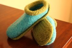 Felted Slipper Pattern.....I have made many.....love them!