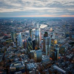 City of London from above