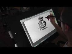 Enrique Fernández Speed Paint with CintiQ 24 HD Touch - YouTube
