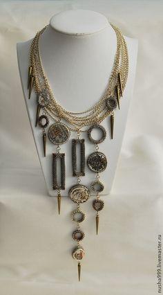 Река жизни. Колье в стиле стимпанк - серебряный,часы,стимпанк,стимпанк украшения