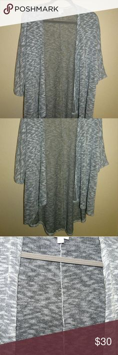 Lularoe Lindsay Kimono S Perfect summer weight kimono with high low styling.  Loose knit. Worn once and washed according to lularoe guidelines.  Smoke free home. LuLaRoe Sweaters Cardigans