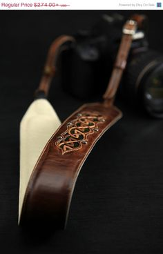 ON SALE Leather Camera Strap:  Autumn Dara by EthosCustomBrands