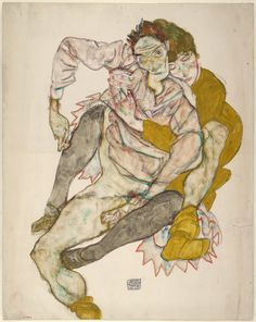 Seated Couple (1915), Egon Schiele. © Albertina, Vienna