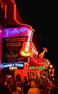 honky tonk row in nashville #ridecolorfully
