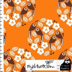 Royal-tuote: Oranssi Linnunrata. Printin suunnittelija PaaPii.    Orange Linnunrata -print. Print is designed by PaaPii