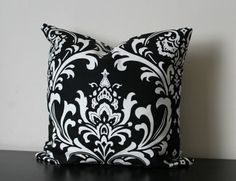 Items similar to 1 yard - Premier Prints Blue Moon Ozborne Damask Indoor/Outdoor fabric on Etsy Black Throw Pillows, Toss Pillows, Throw Pillow Covers, Decorative Throw Pillows, Turquoise Fabric, Boppy Cover, Black And White Fabric, Premier Prints, White Damask