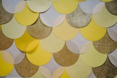Yellow and gold polka dot theme inspiration?