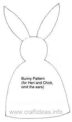 Molde o Patrón para hacer marioneta mano forma conejo