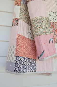 Handmade cot size quilt in the colours of your choice. After consultation with you I will carefully consider the look and style desired for your. Baby Girl Quilts, Girls Quilts, Cot Quilt, Quilt Art, Wooden Cribs, Custom Quilts, Quilt Sizes, Antique Quilts, Scrappy Quilts
