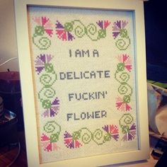 This truly enchanting self-description.   26 Surprisingly Surly Cross Stitches You Need For Your Home