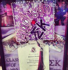 Graduation | Sigma Kappa | Gorgeous shadow box. College memories ❥