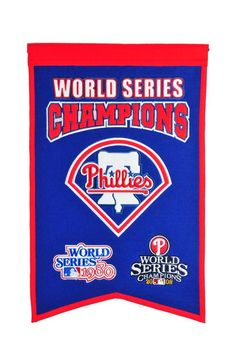 "Philadelphia Phillies MLB World Series Champions Wool Banner (14"" x 22"")"