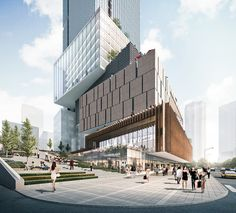 EID Wins Competition for Stacked Block Mixed-Use Development in Chongqing,Courtesy of EID Architecture