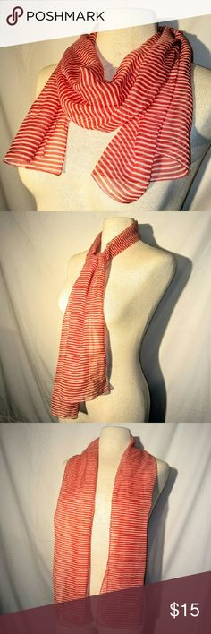 2for1 CANDY Cane Scarf Sheer, Silky Scarf, Great for Neck or Head, Perfect Holiday Accessory! No tags. From a smoke free home. Make an offer! Vintage Accessories Scarves & Wraps