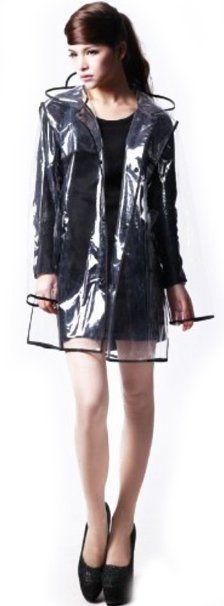 Amazon.com: City Block Bearcat Transparent with Colorful Edge Fashion Raincoat (Black(Short Style)): Clothing. $17. D! Cute huh?