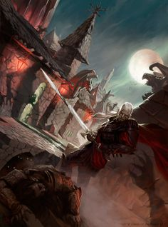 Recent work produced for Dungeons and Dragons, Wizards of the Coast.